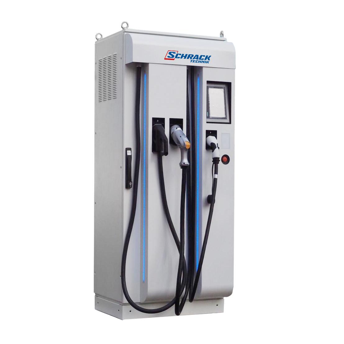 1 Stk 3fach Schnellladestation, TYP2, CCS, CHAdeMO, Farb-TFT, OCPP EMDCT554--
