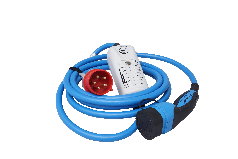 1 Stk mobiles Ladegerät CEE 16A auf Typ2, 5m Kabellänge, Bluetooth EMNK516B--
