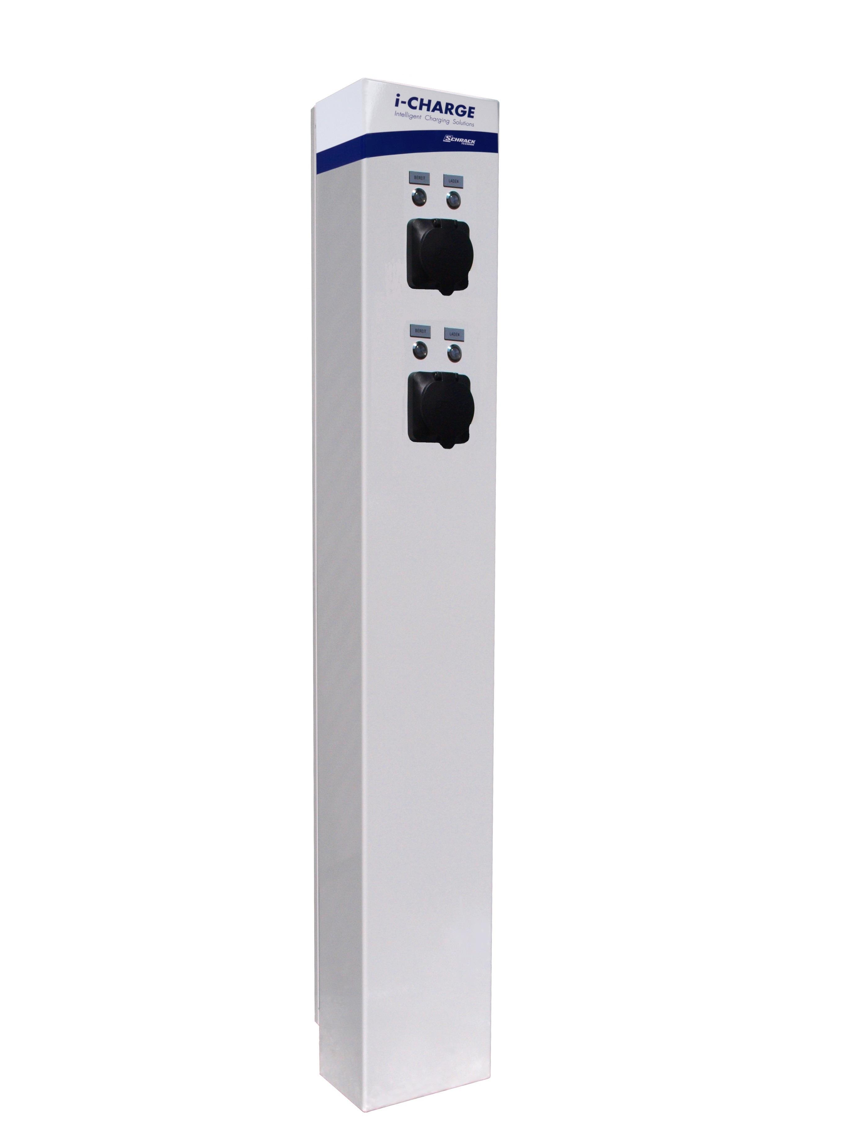 1 Stk i-CHARGE PUBLIC 200, 2x Typ2 11-22kW, Edelstahl mit LS, FI EMPUB029--