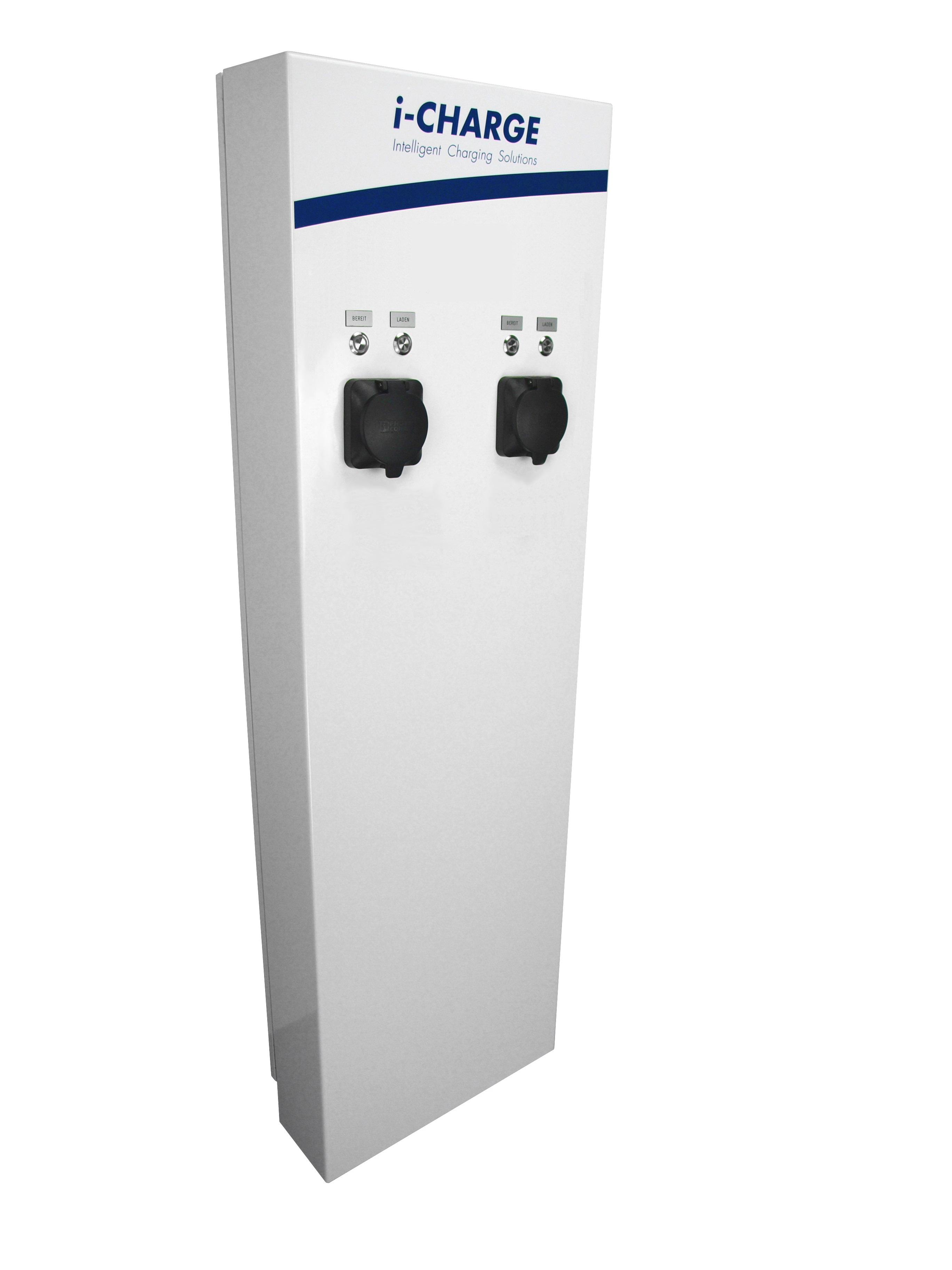 1 Stk i-CHARGE PUBLIC 400 2x Typ2 11-22kW, Edelstahl mit LS, FI EMPUB129--