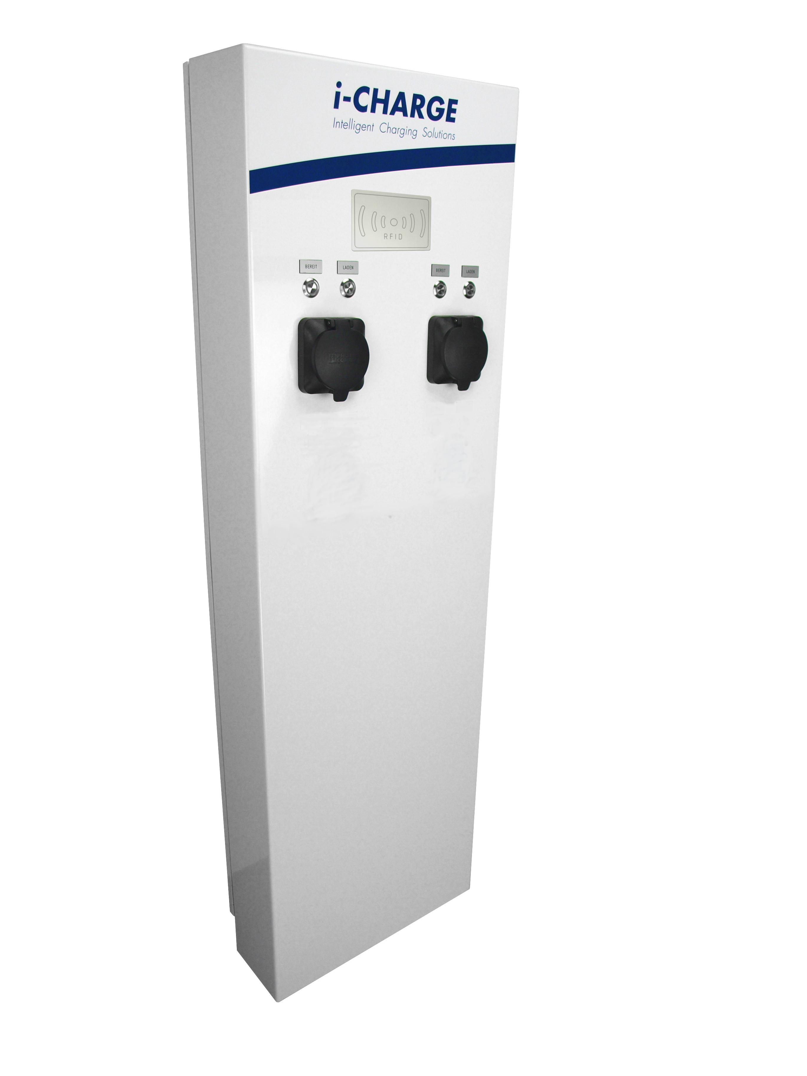 1 Stk i-CHARGE PUBLIC 400, 2x Typ2 11-22kW, Online EMPUB129O-