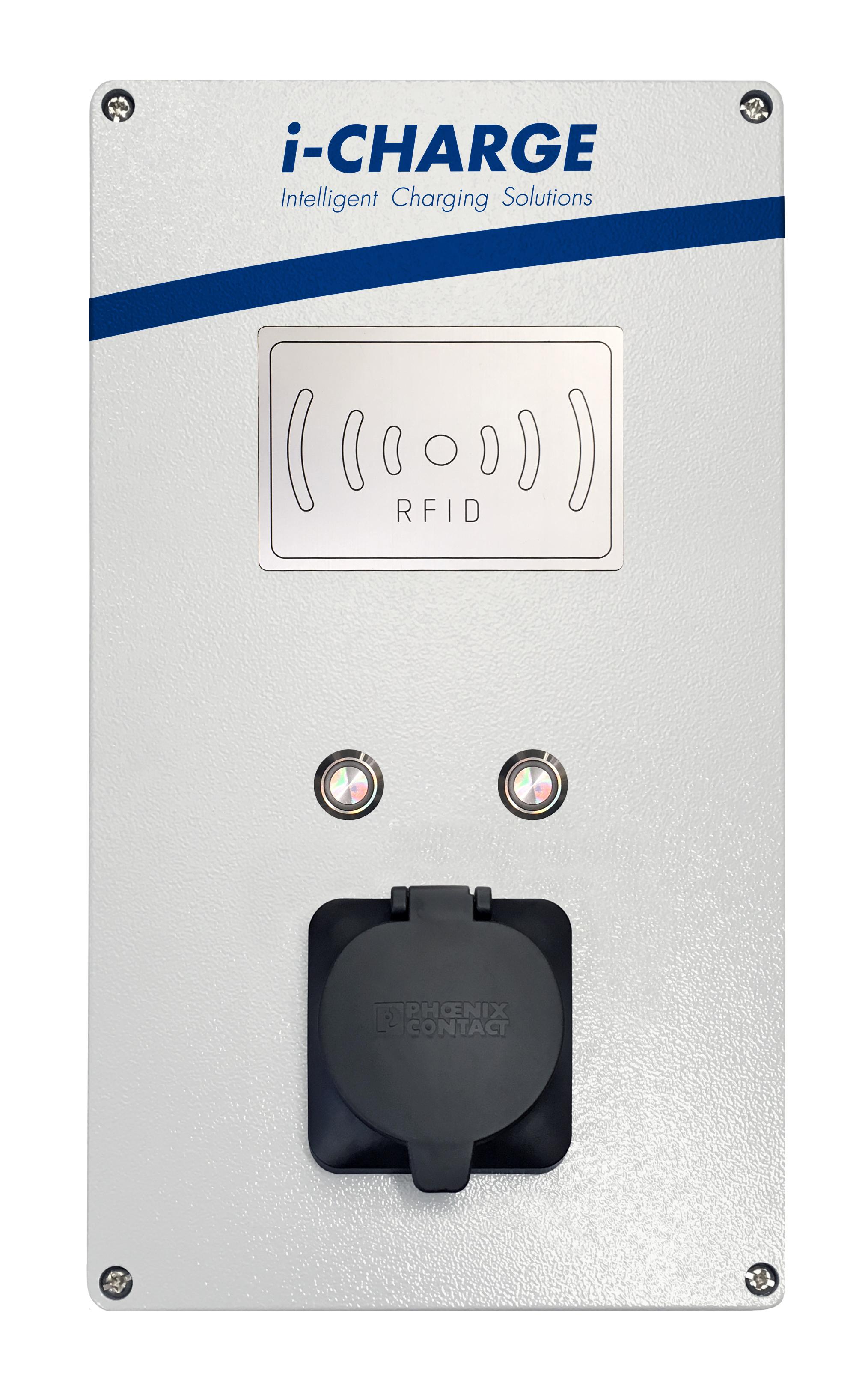 1 Stk i-CHARGE Mini Online Typ2 11-22kW, Alu, online, Zähler, RCMU EMPUBM16O-
