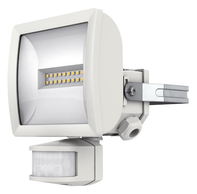1 Stk LED Strahler mit Bewegungsmelder, 10 Watt/180°/12m, weiß EST1020811