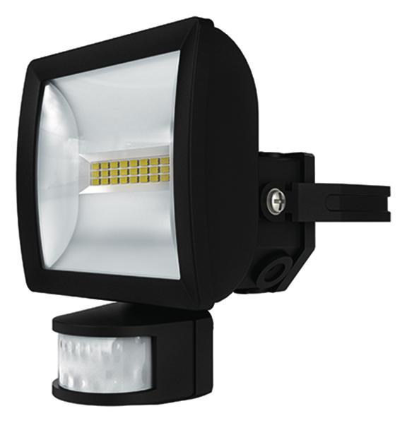 1 Stk LED Strahler mit Bewegungsmelder, 10 Watt/180°/12m, schwarz EST1020912