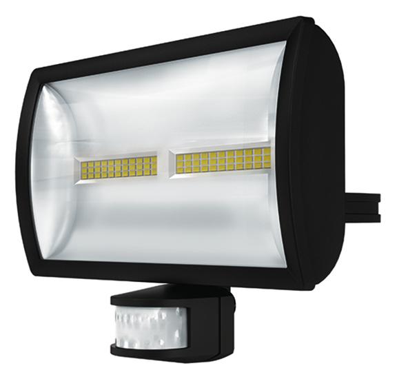 1 Stk LED Strahler mit Bewegungsmelder, 30 Watt/180°/12m, schwarz EST1020916