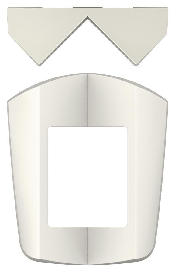 1 Stk Eckmontagewinkel theLuxa S, weiß EST9070902