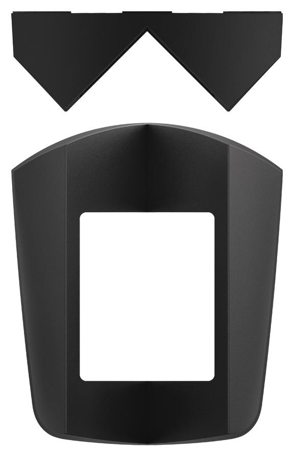 1 Stk Eckmontagewinkel theLuxa S, schwarz EST9070903