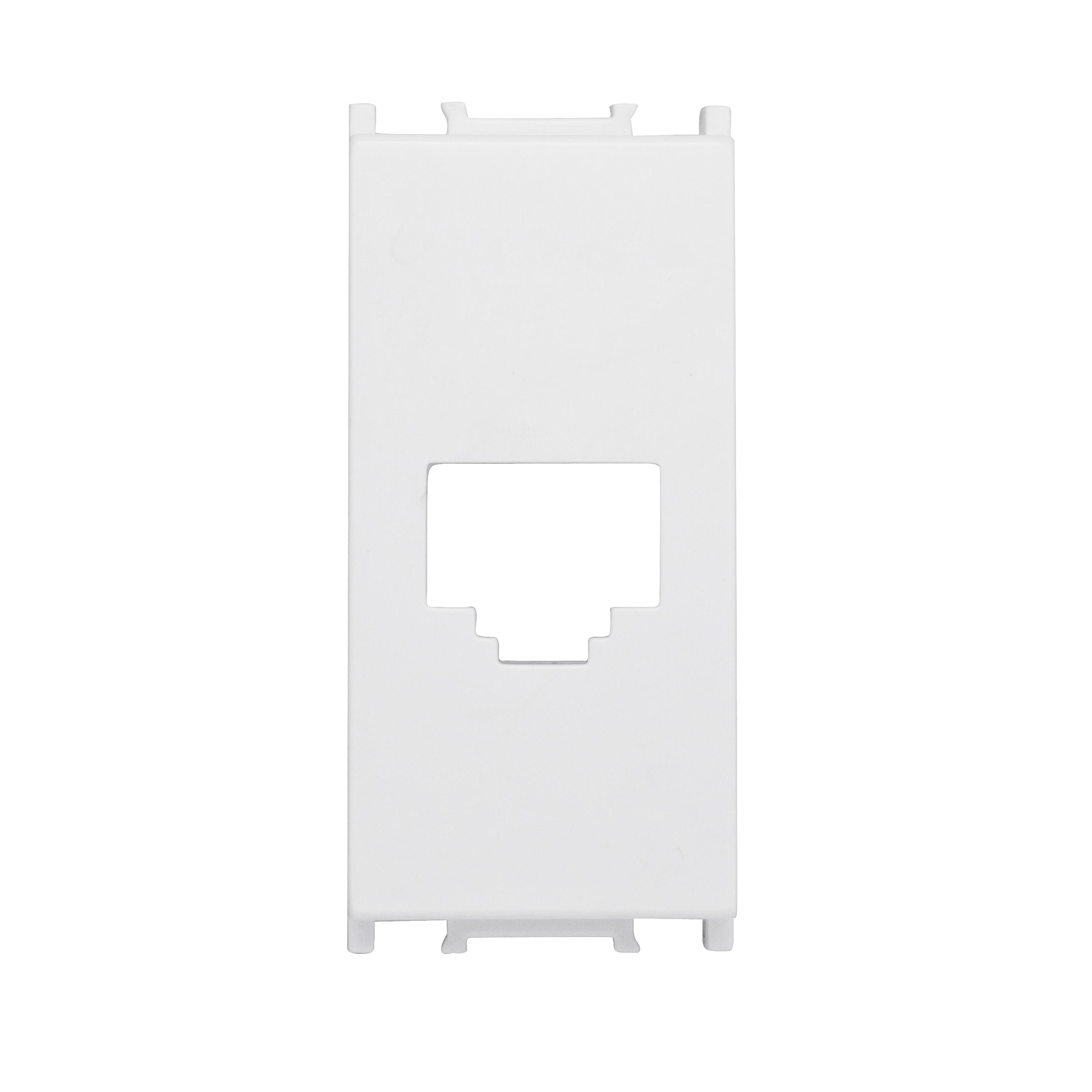 1 Stk Abdeckung RJ45 Toolless Line jack, 1M, weiß ET102017--