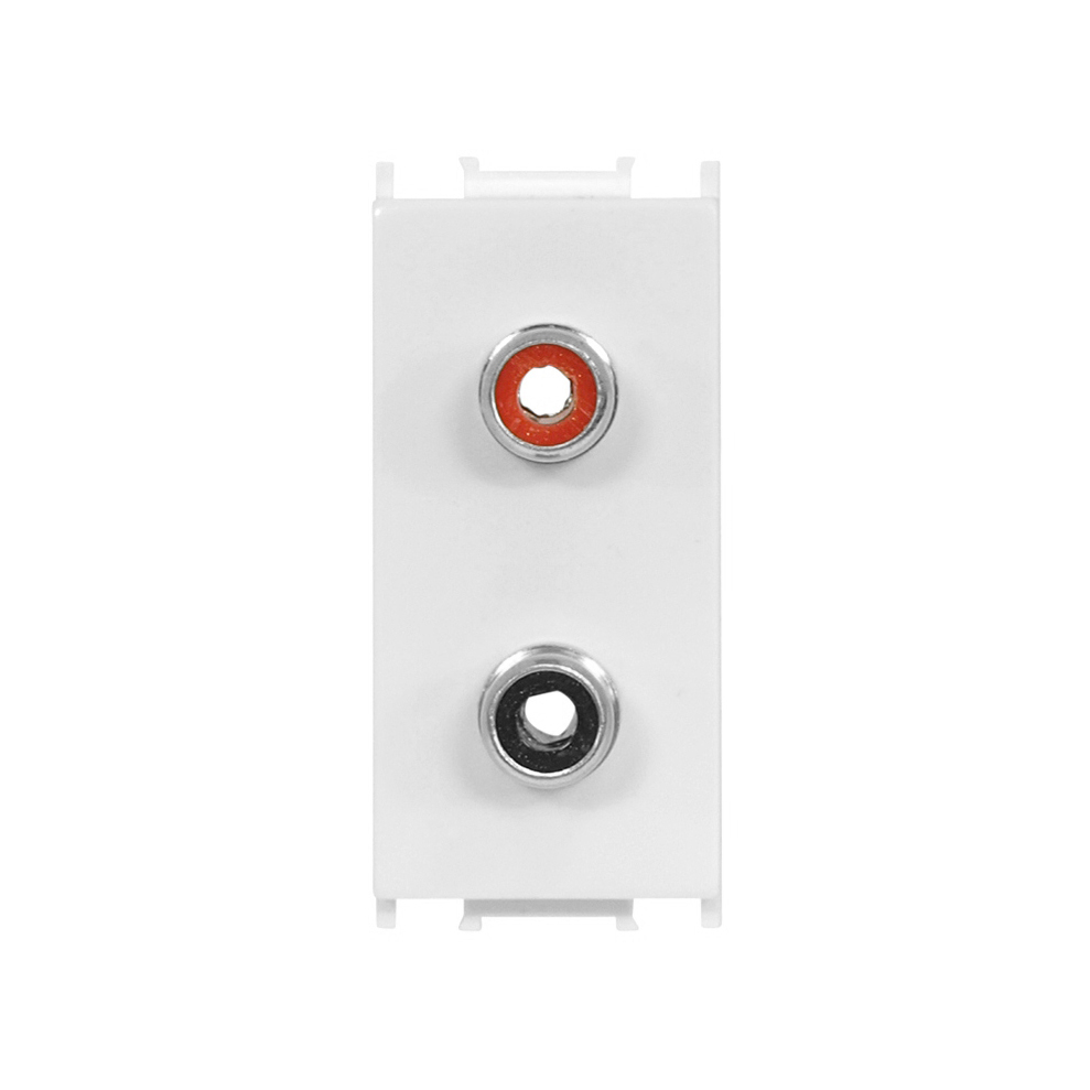 1 Stk Audiosteckdose 1M 2xRCA, weiß ET104007--
