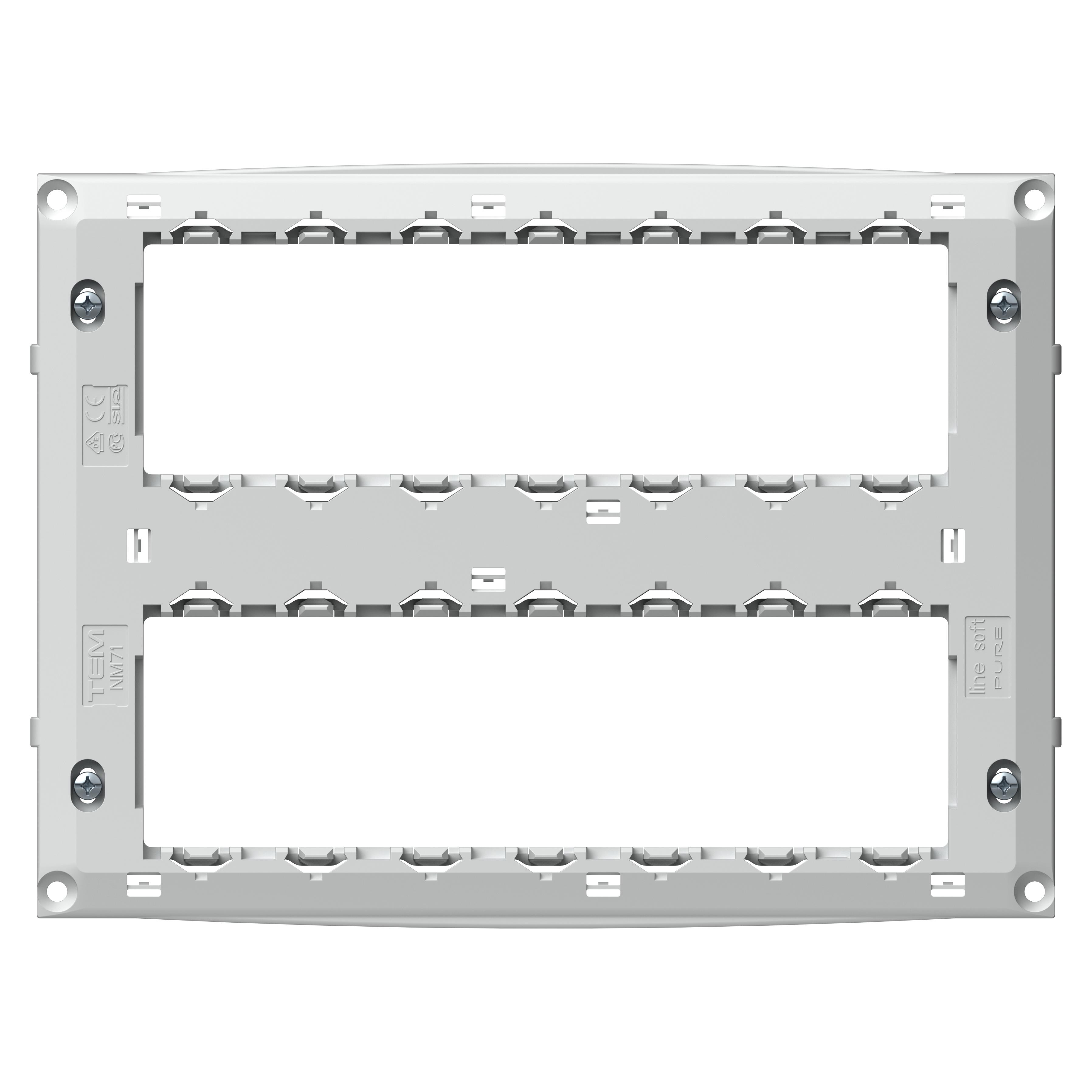 1 Stk Montagerahmen ohne Krallen, 2x7M ET1050091-