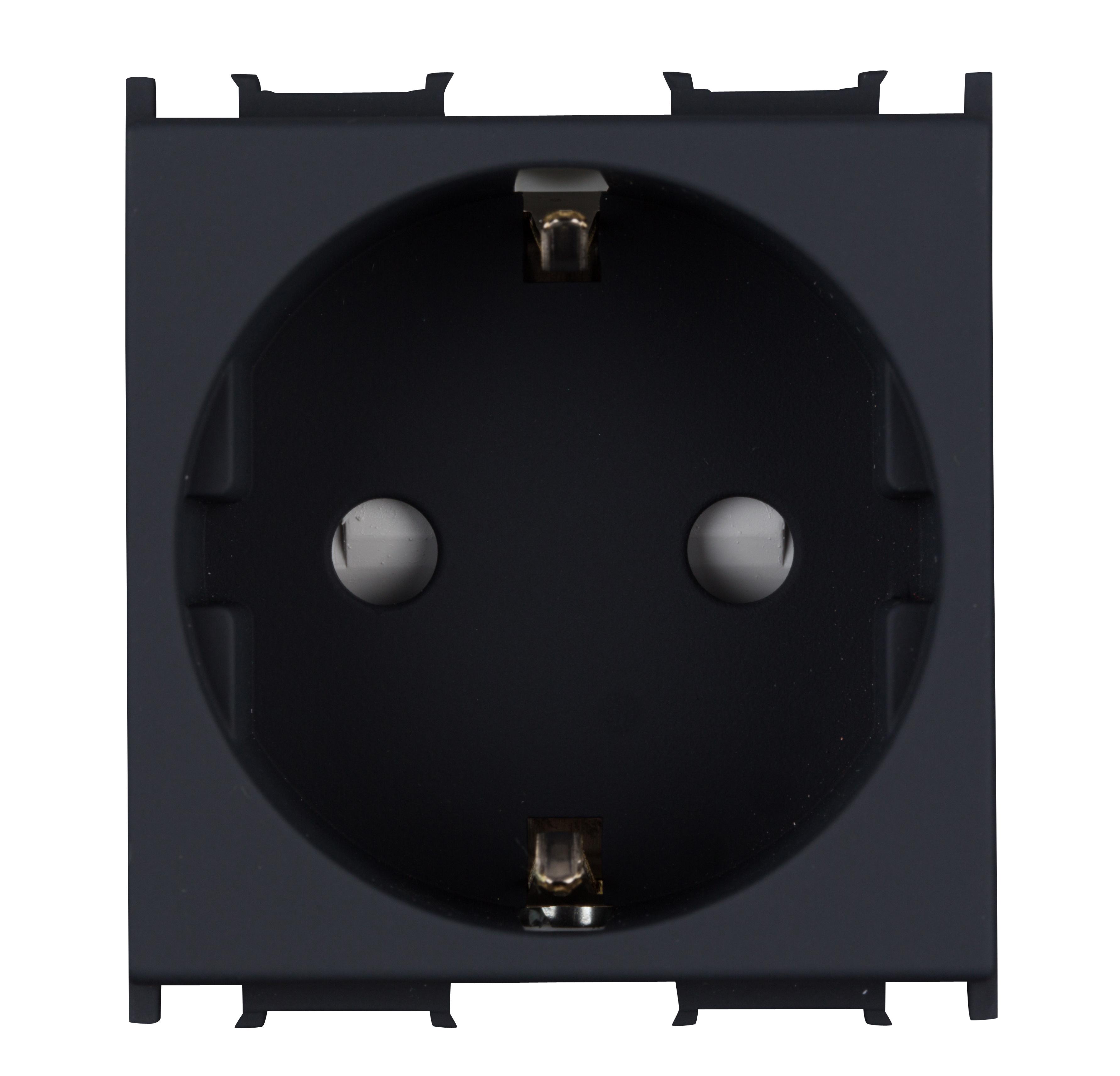 1 Stk Steckdose mit erhöhtem Berührungsschutz 16A, schwarz ET111001--