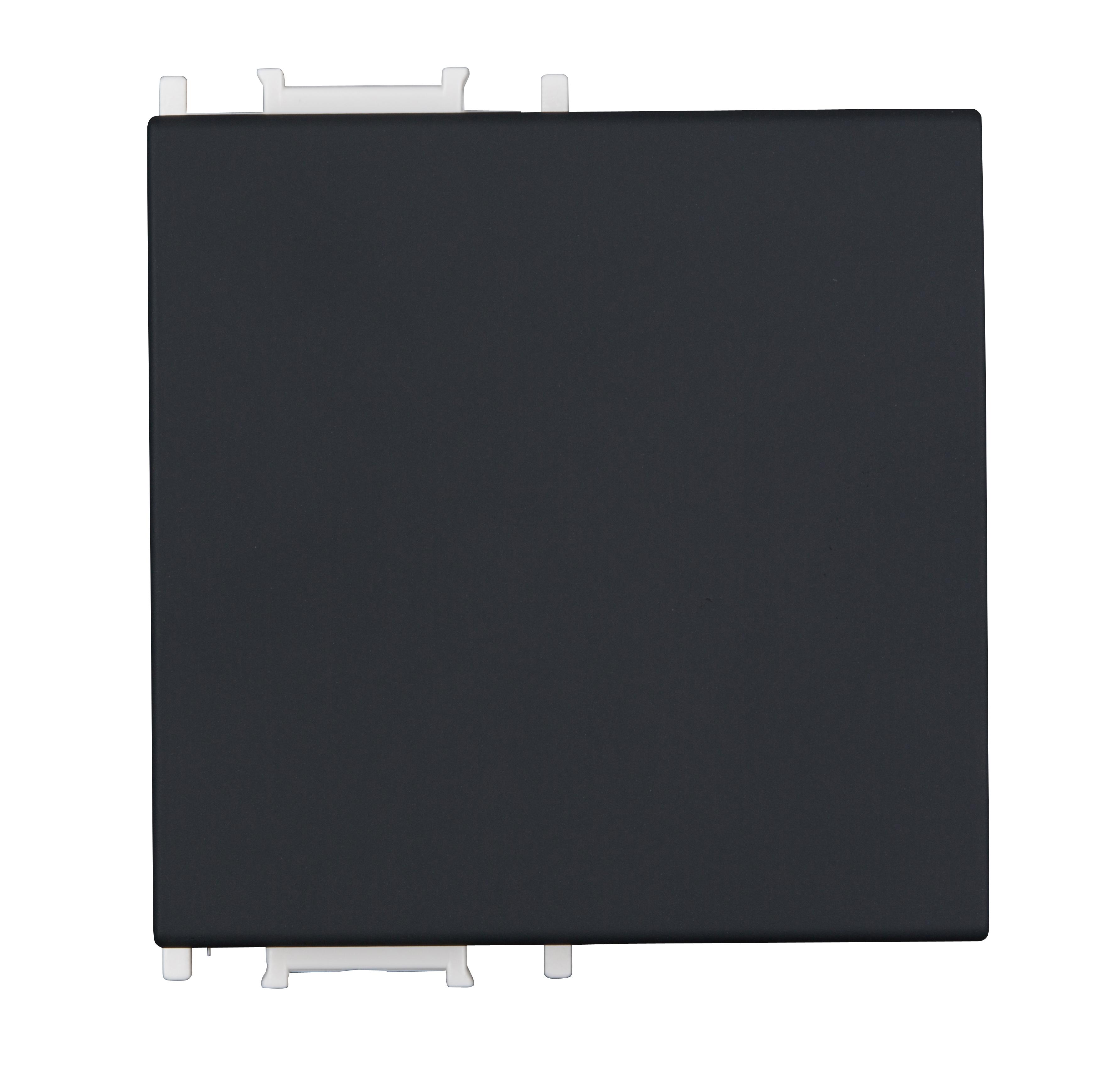 1 Stk Schalterabdeckung 2M, schwarz ET112002--