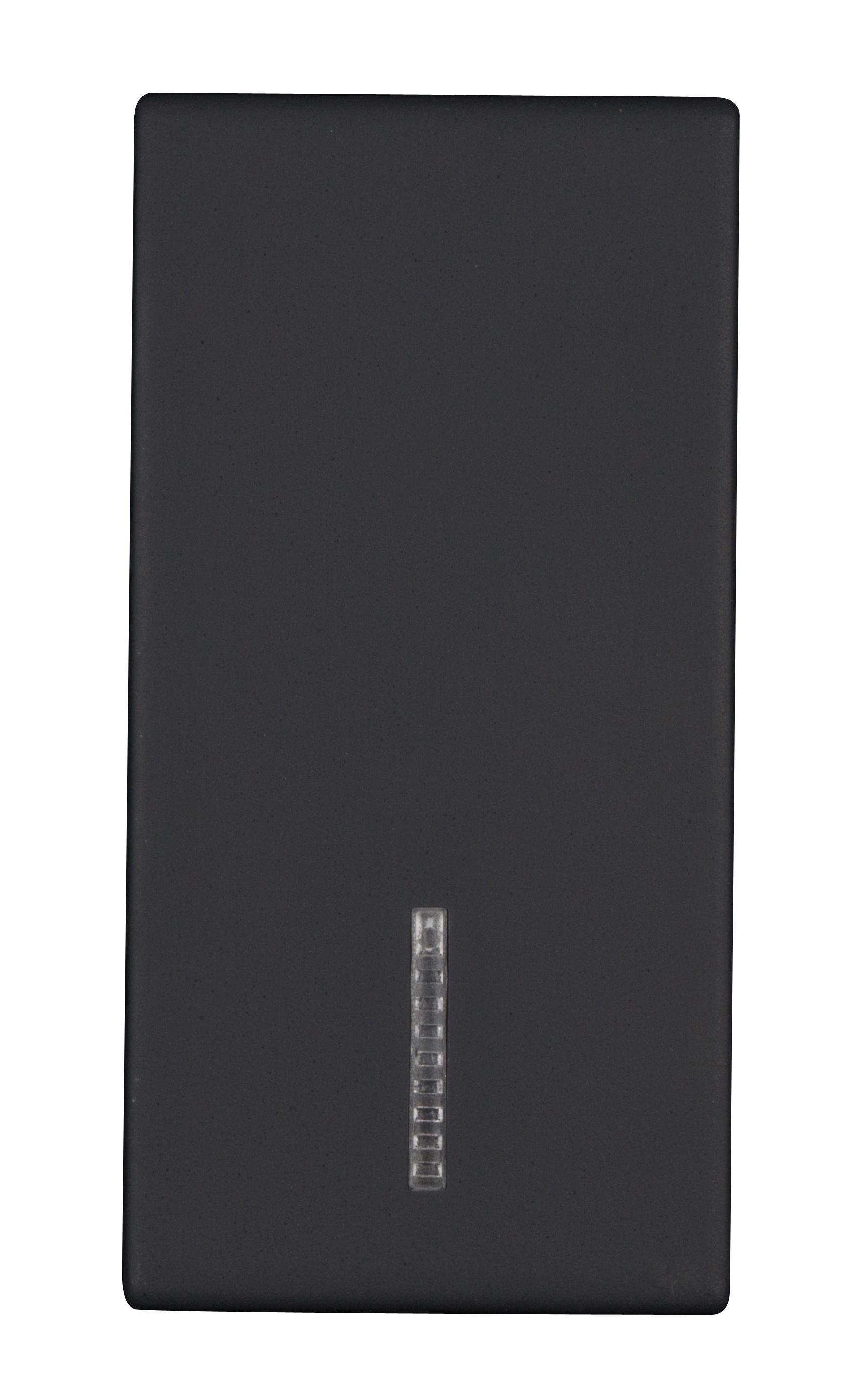1 Stk Schalterabdeckung mit Linse 1M, schwarz ET112010--