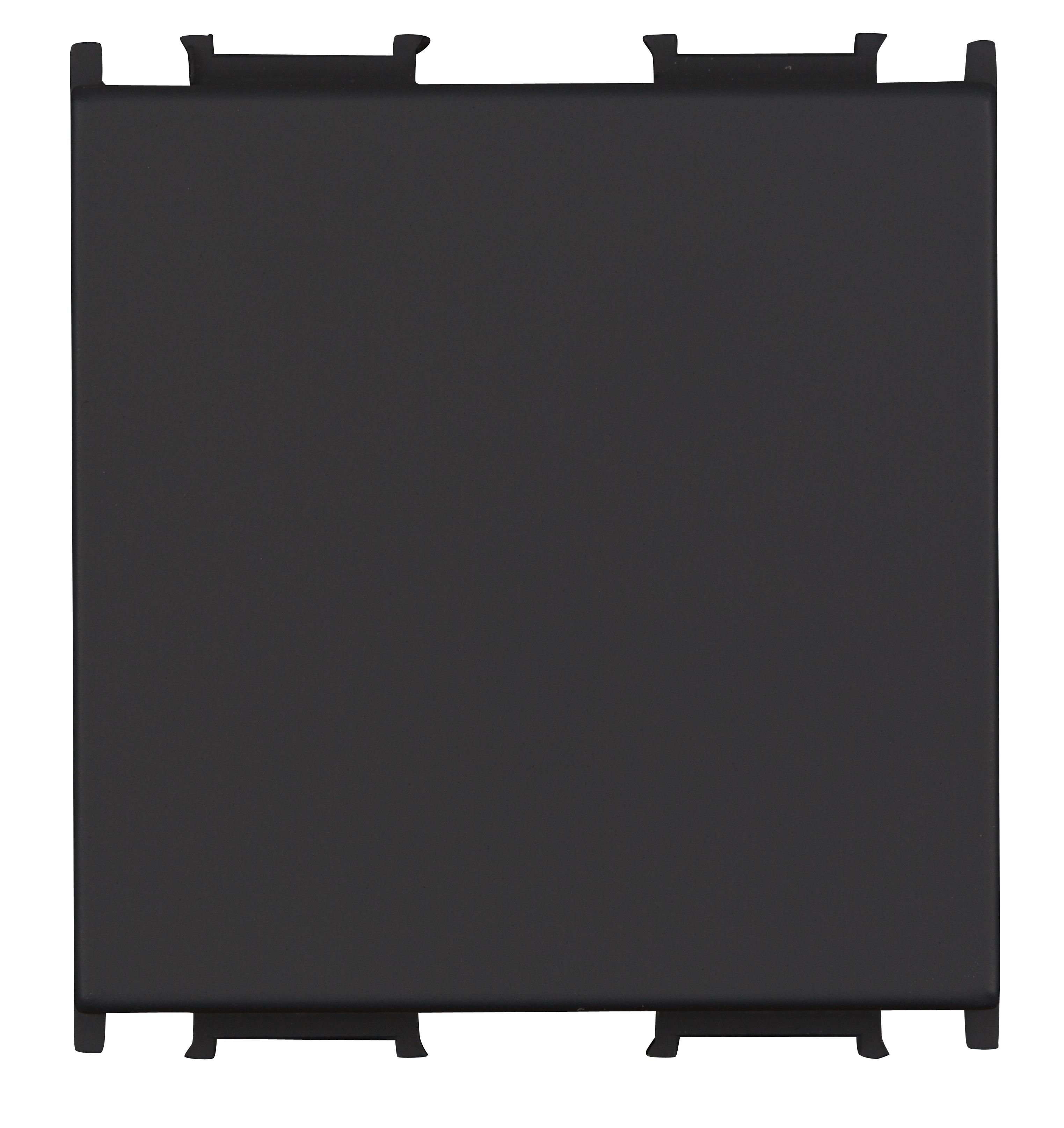 1 Stk Blindabdeckung 2M, schwarz ET112016--