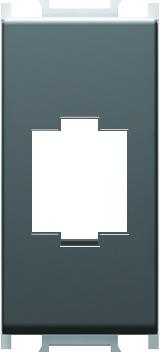 1 Stk Abdeckung USB/HDMI Kupplung, 1M, schwarz ET112020--