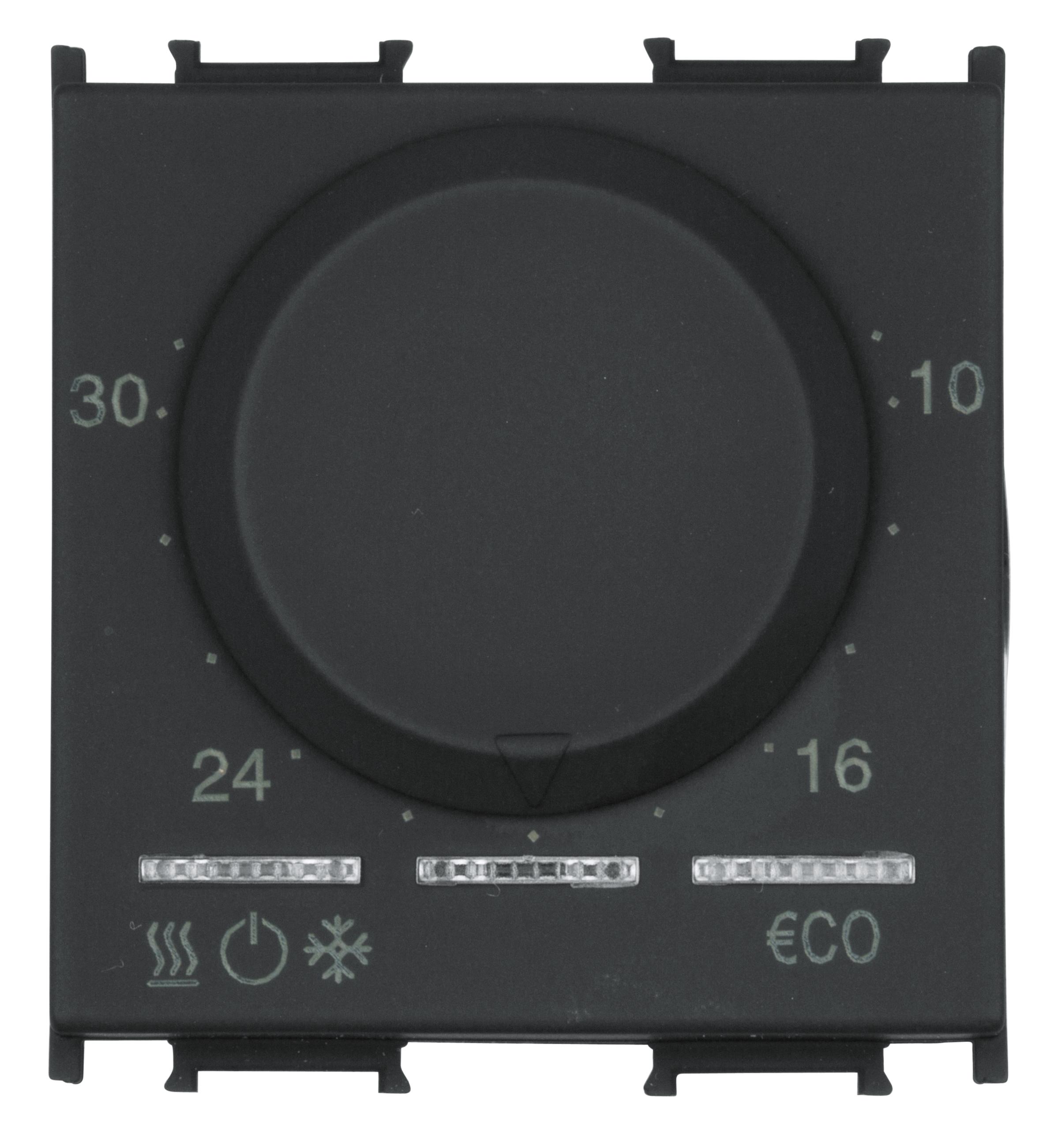 1 Stk Thermostat, 5-35°C, 6A, 2M, schwarz ET113040--