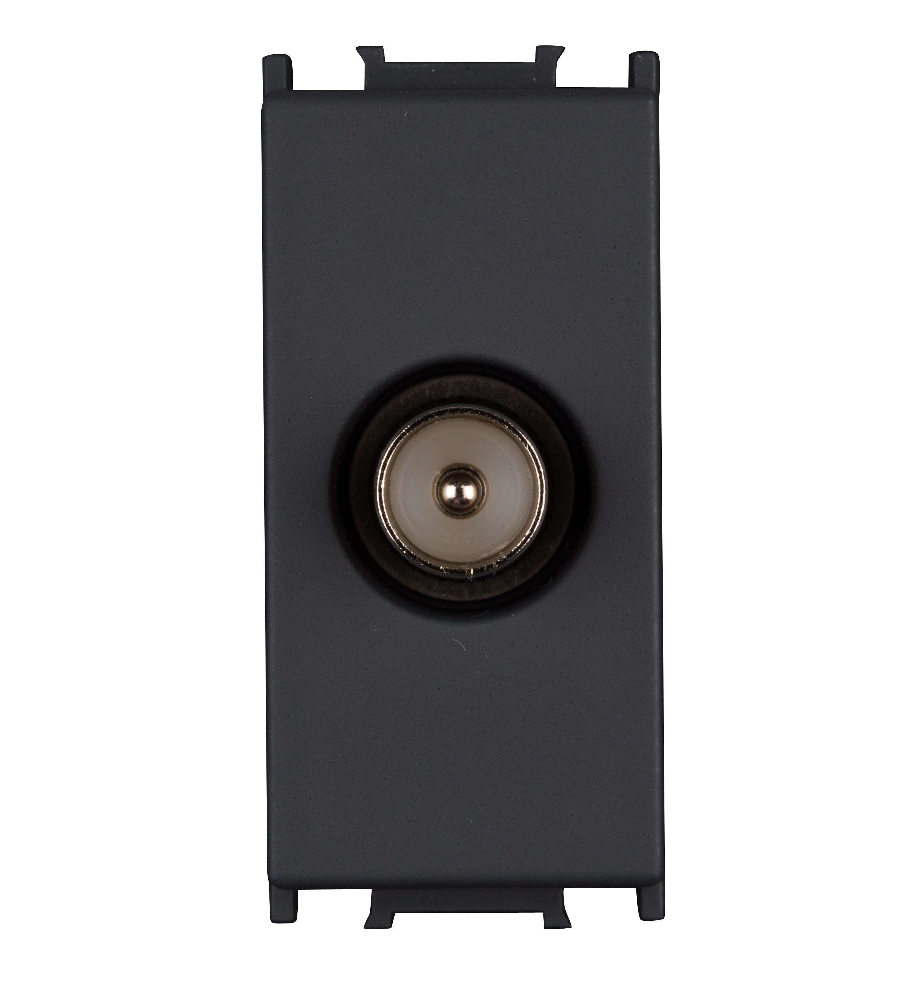 1 Stk TV Einzeldose 1M 0dB, schwarz ET114001--