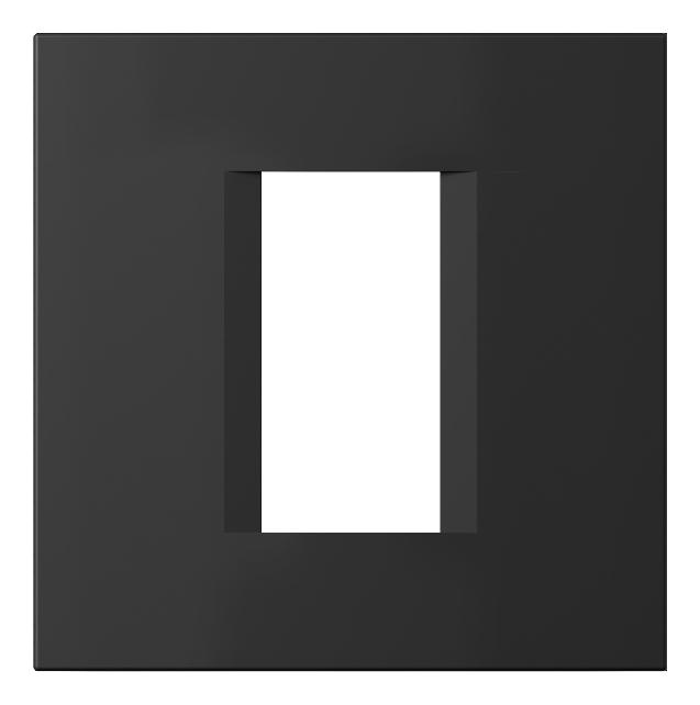 1 Stk Rahmen 1/2M, schwarz matt ET145010SM