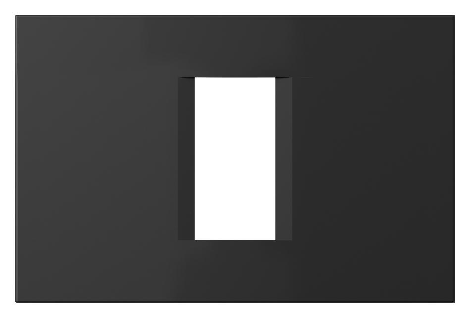1 Stk Rahmen 1/3M, schwarz matt ET145012SM