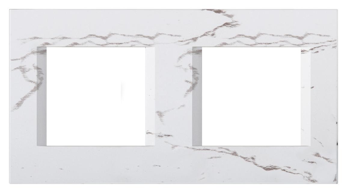 1 Stk Rahmen 2x2M, steinweiß ET145018SW