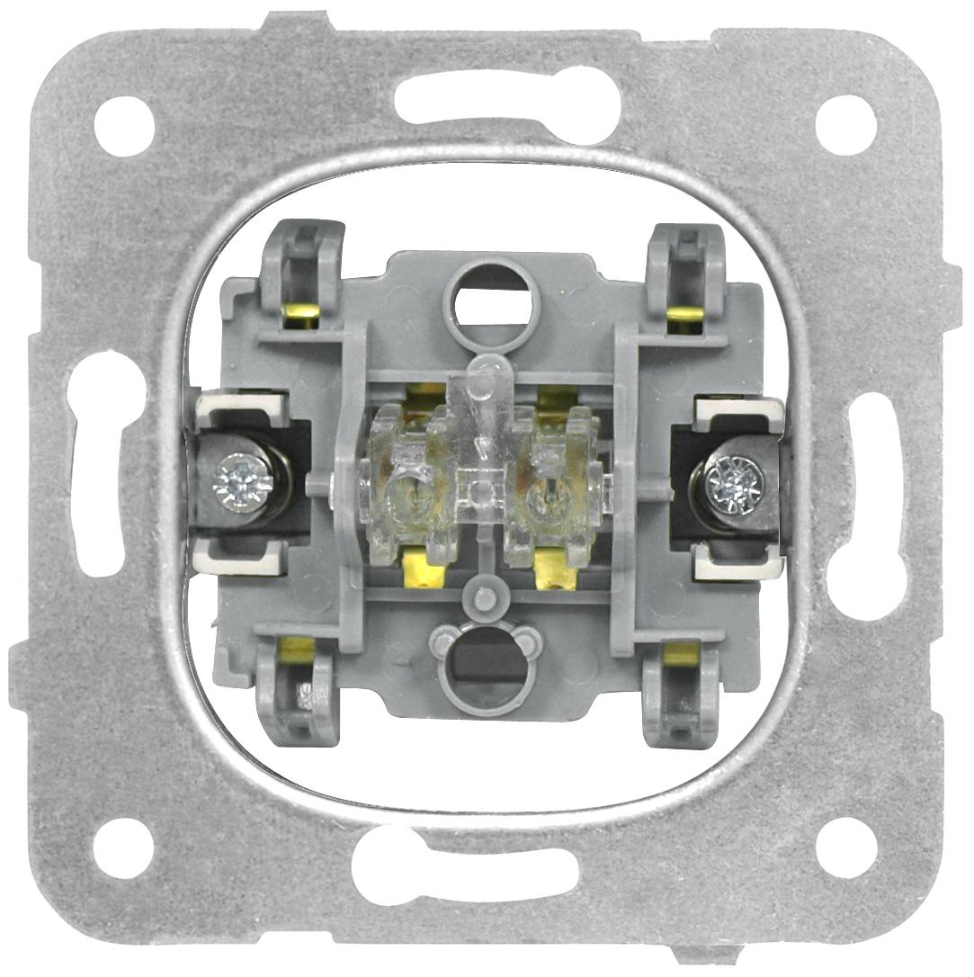 1 Stk Ausschalter-Einsatz, 2-polig, Steckklemmen EV100005--