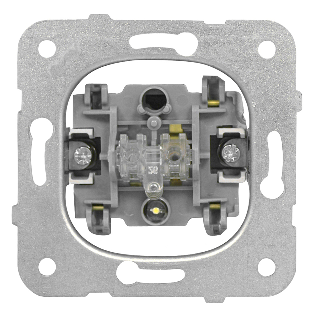 1 Stk Taster-Einsatz mit Orientierungslicht, Schließer,Steckklemme EV100021--