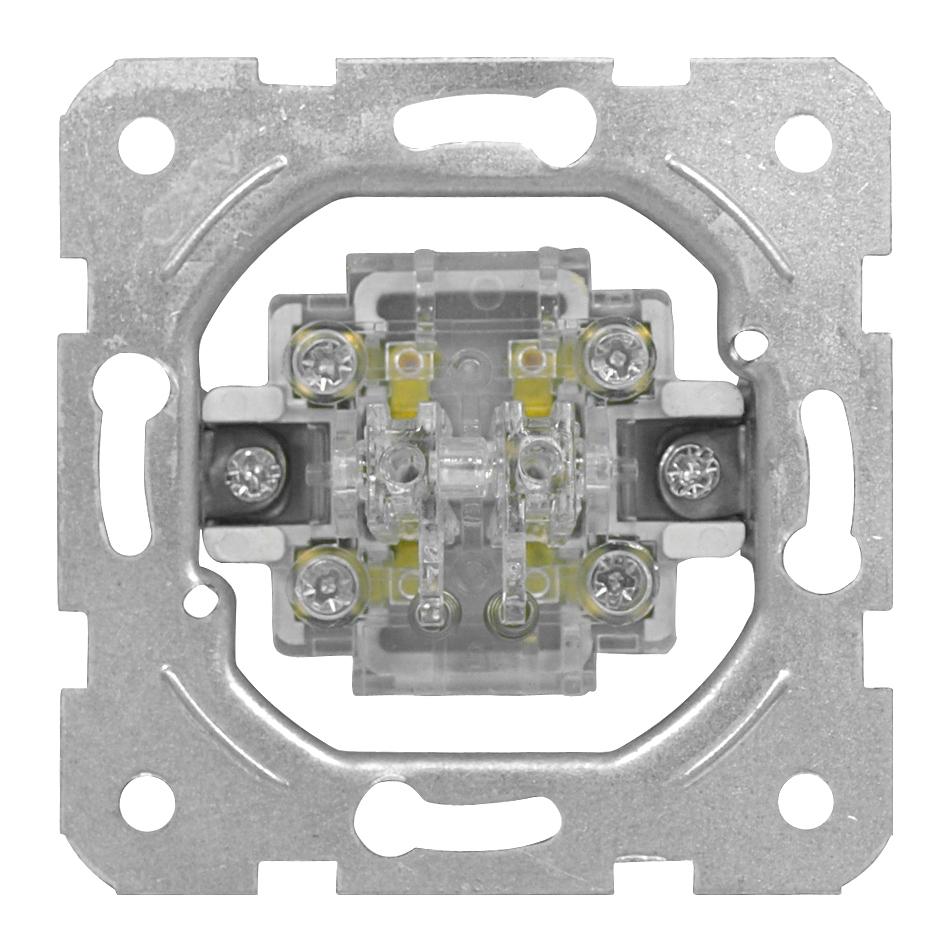 1 Stk Doppeltaster-Einsatz, Schließer, Schraubklemmen EV100024--