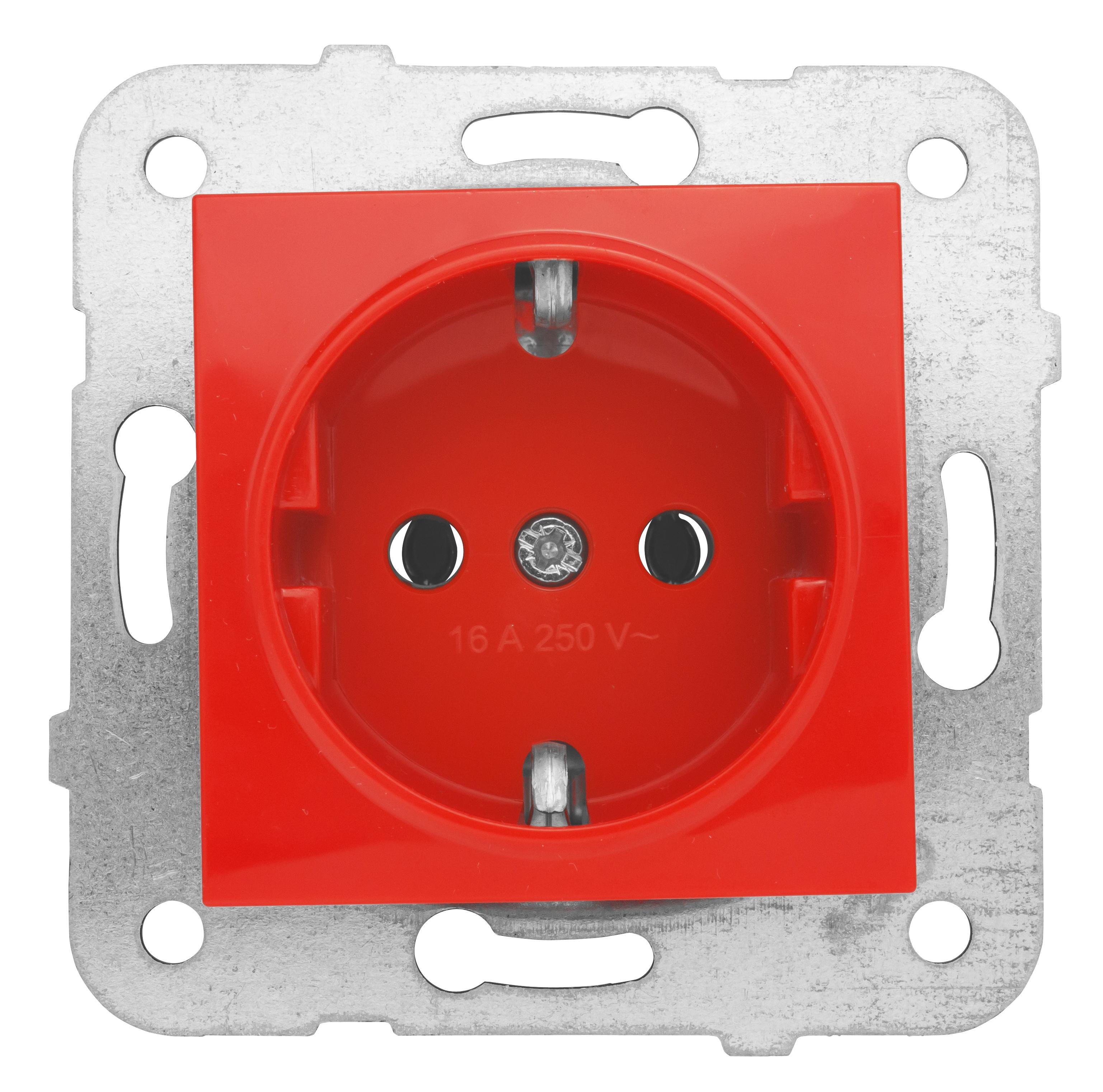 1 Stk Steckdose, rot, Steckklemmen EV101007--