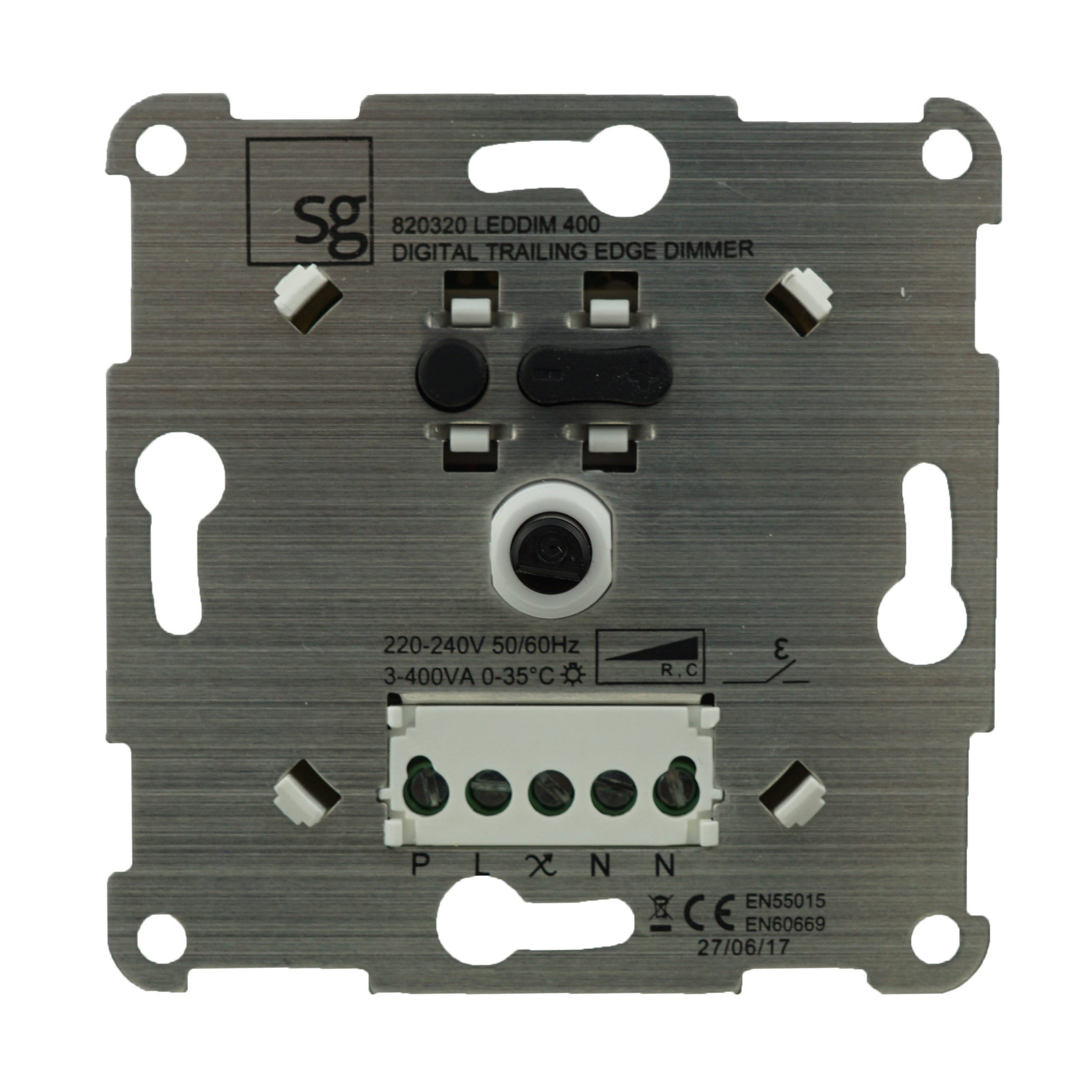 1 Stk Dimmereinsatz 3-400 VA für dimmbare LED mit Abdeckung EV103025--