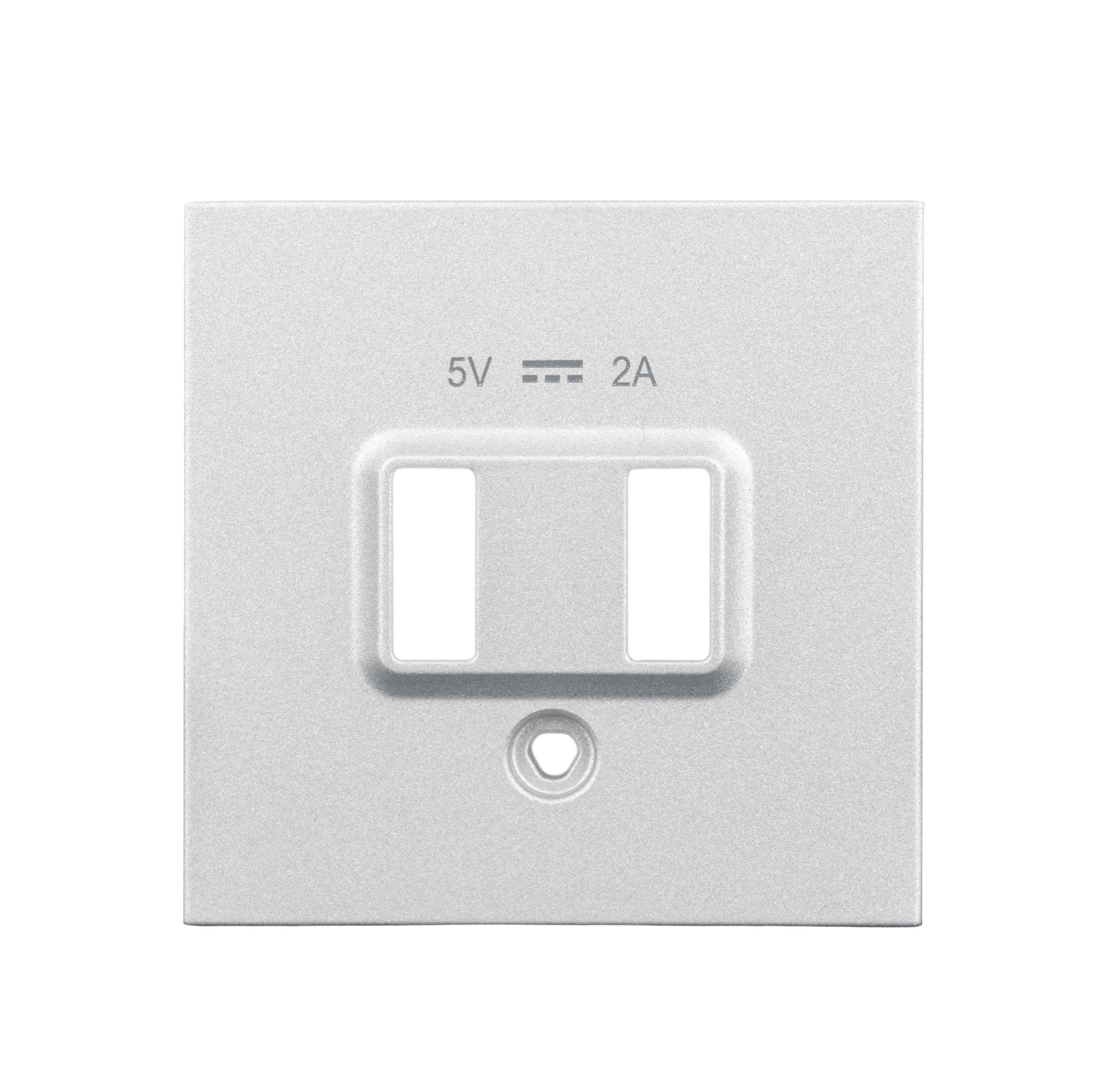 1 Stk USB Ladesteckdosen-Abdeckung, weiß EV103052--