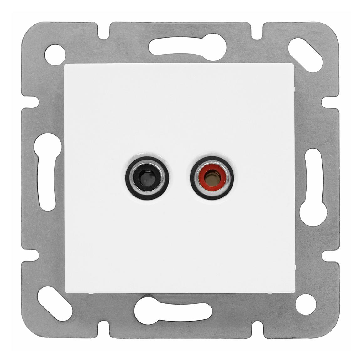 1 Stk Cinch Audiosteckdose, Schraubkontakte EV104008--