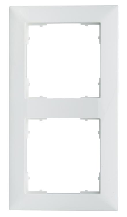 1 Stk Rahmen 55x55mm, 2-fach, weiß EV105022--