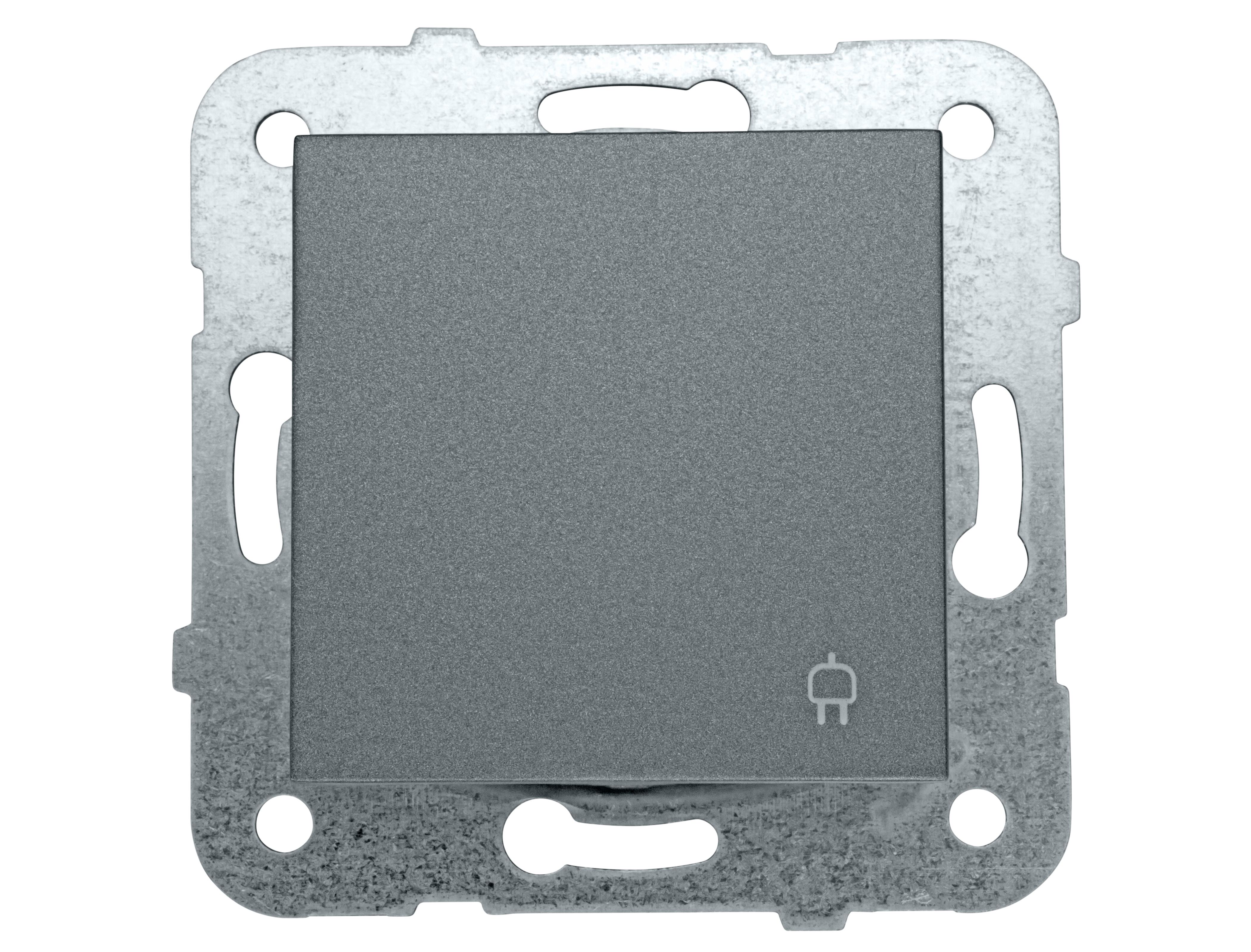 1 Stk Steckdose, erhöhter Berührungsschutz, Klappdeckel, Schraubkl EV111006--