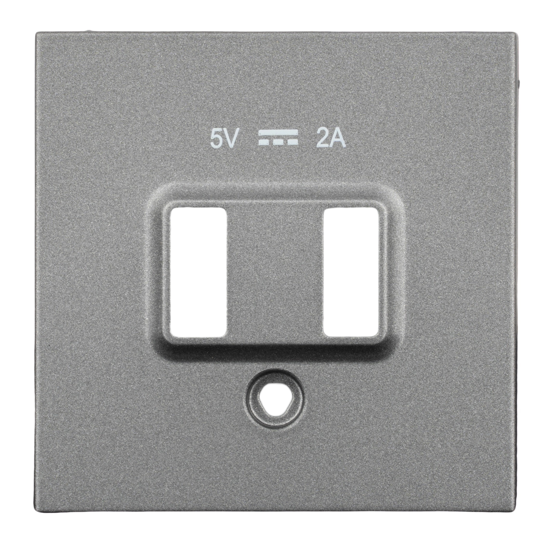 1 Stk USB Ladesteckdosen-Abdeckung, anthrazit EV113052--