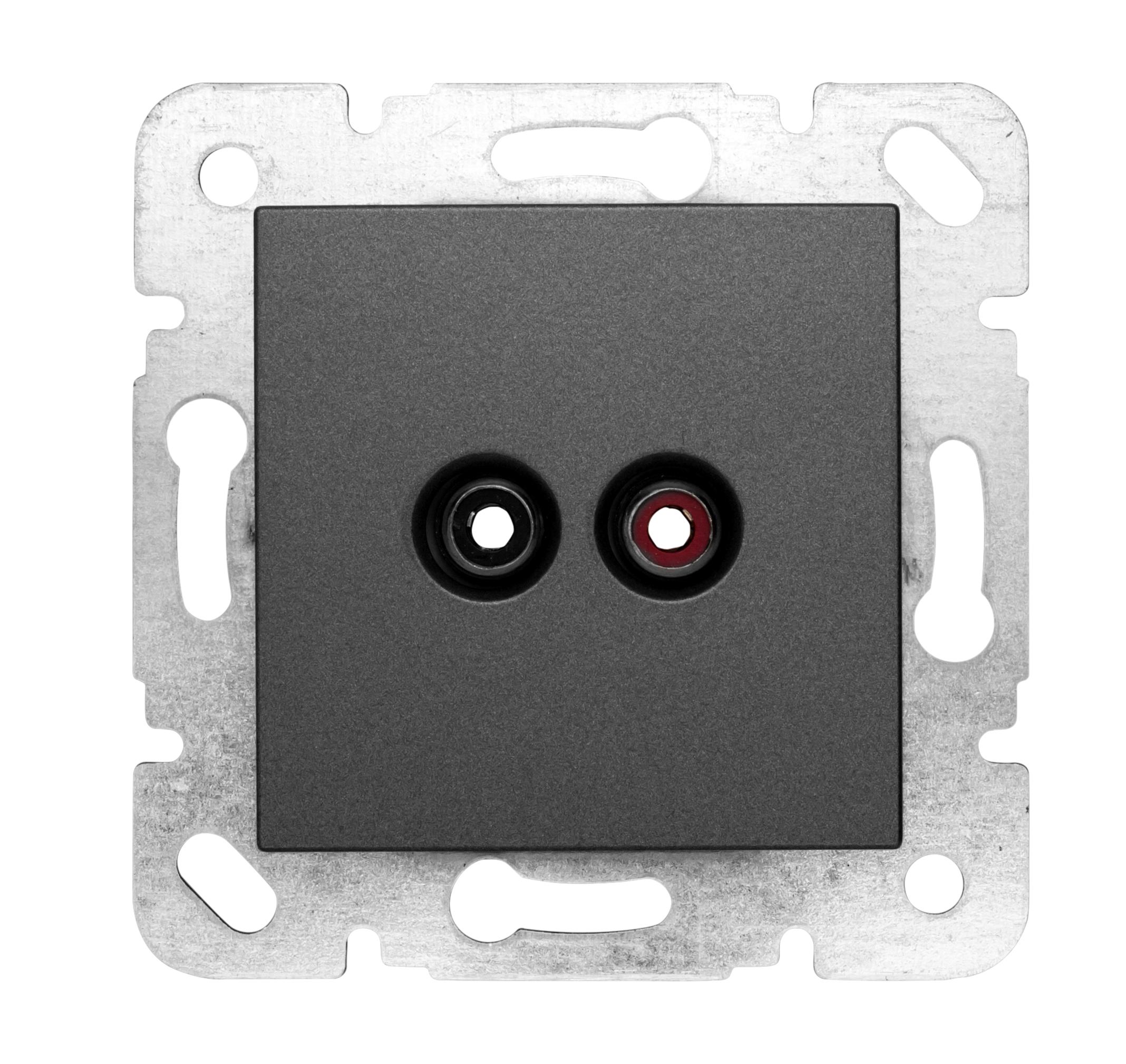 1 Stk Cinch Audiosteckdose, Schraubkontakte, anthrazit EV114008--