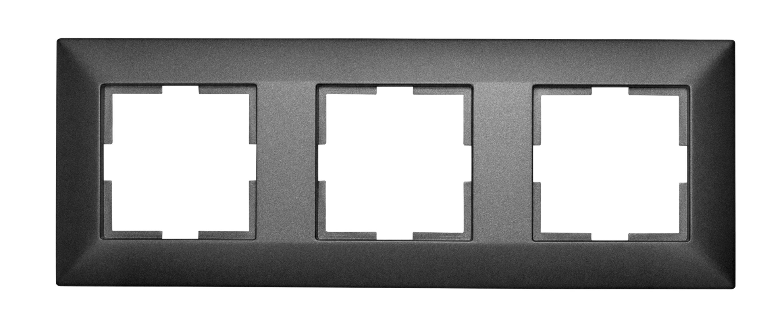 1 Stk Rahmen 3-fach, anthrazit EV115003--