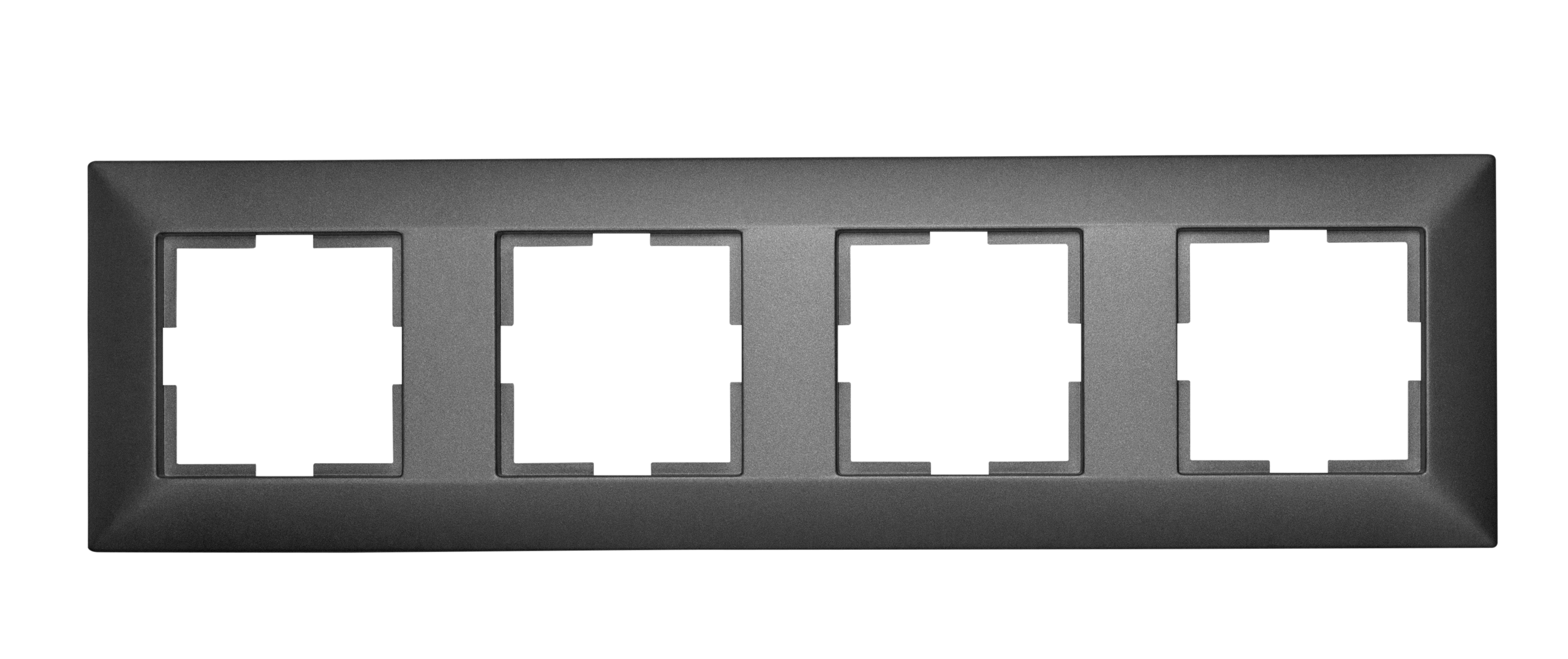 1 Stk Rahmen 4-fach, anthrazit EV115004--