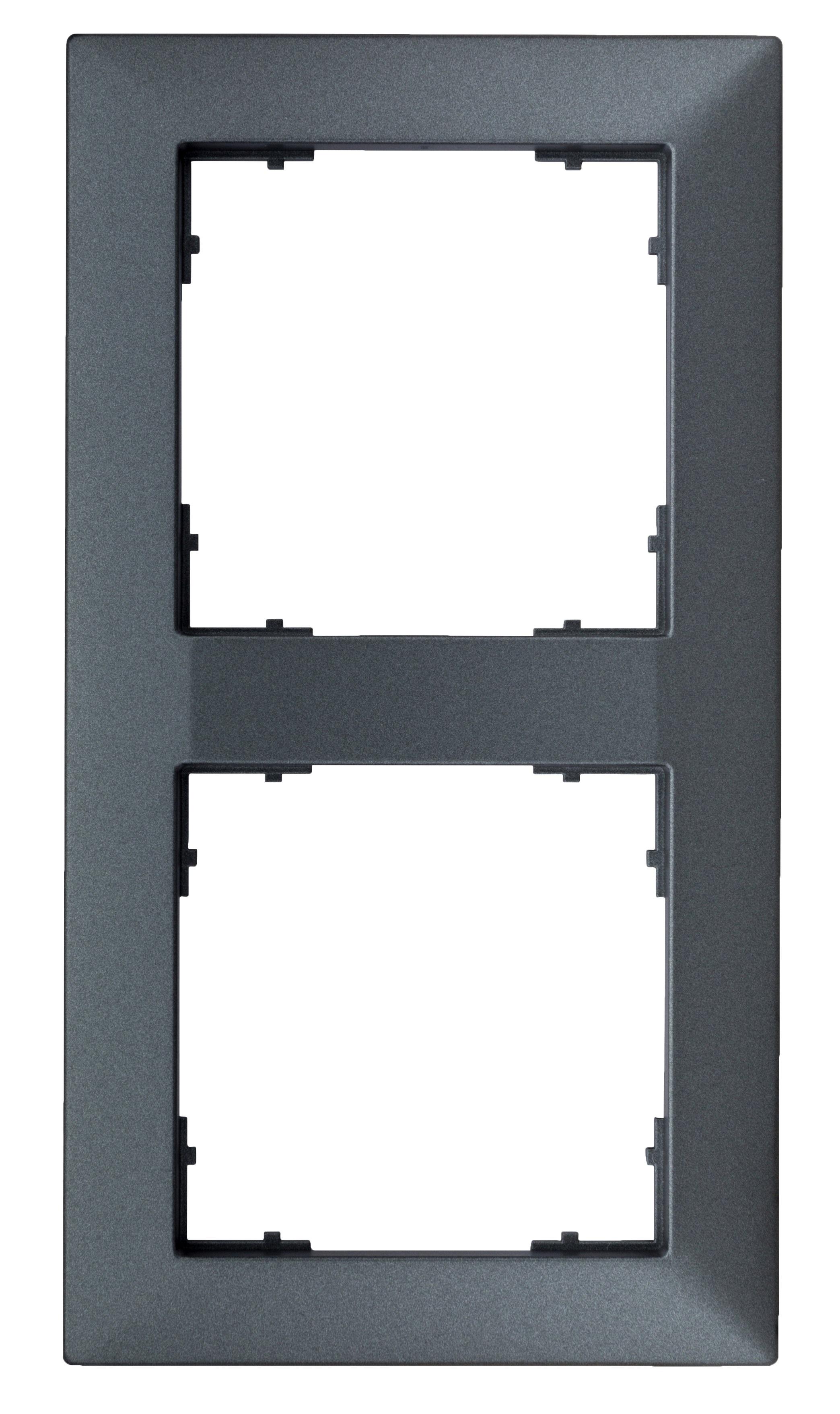 1 Stk Rahmen 55x55mm, 2-fach, anthrazit EV115022--