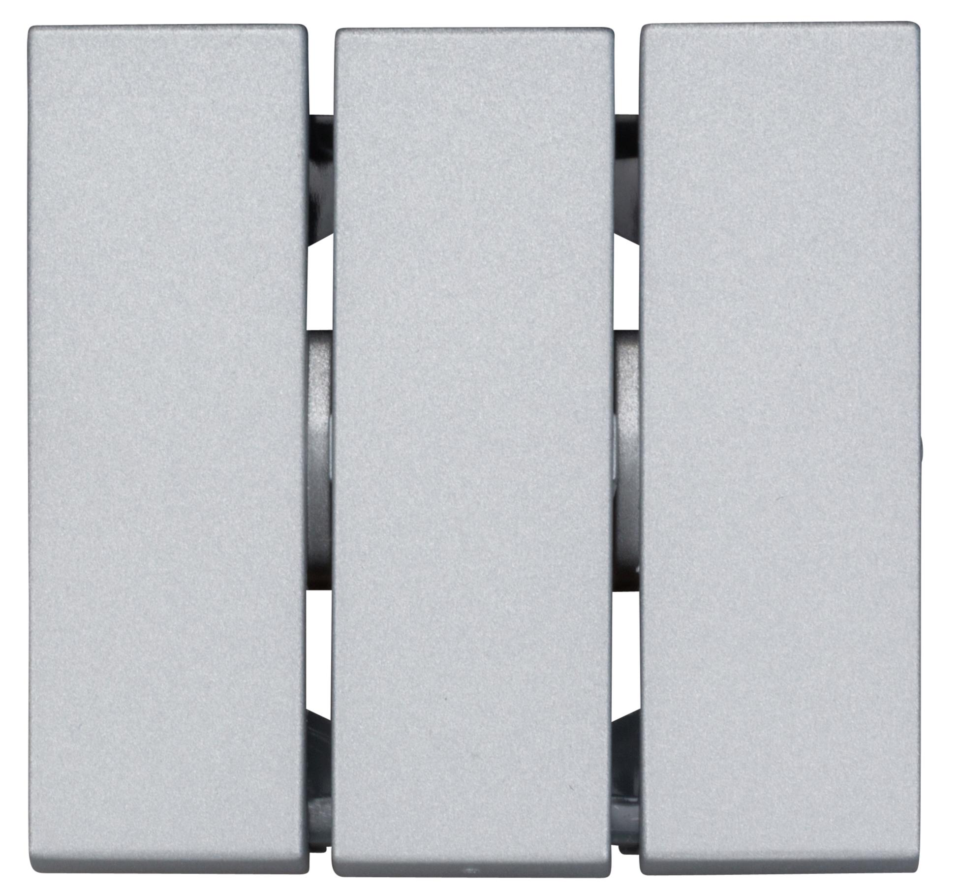 1 Stk Wippe für Ausschalter 3 fach, Silber EV122016--