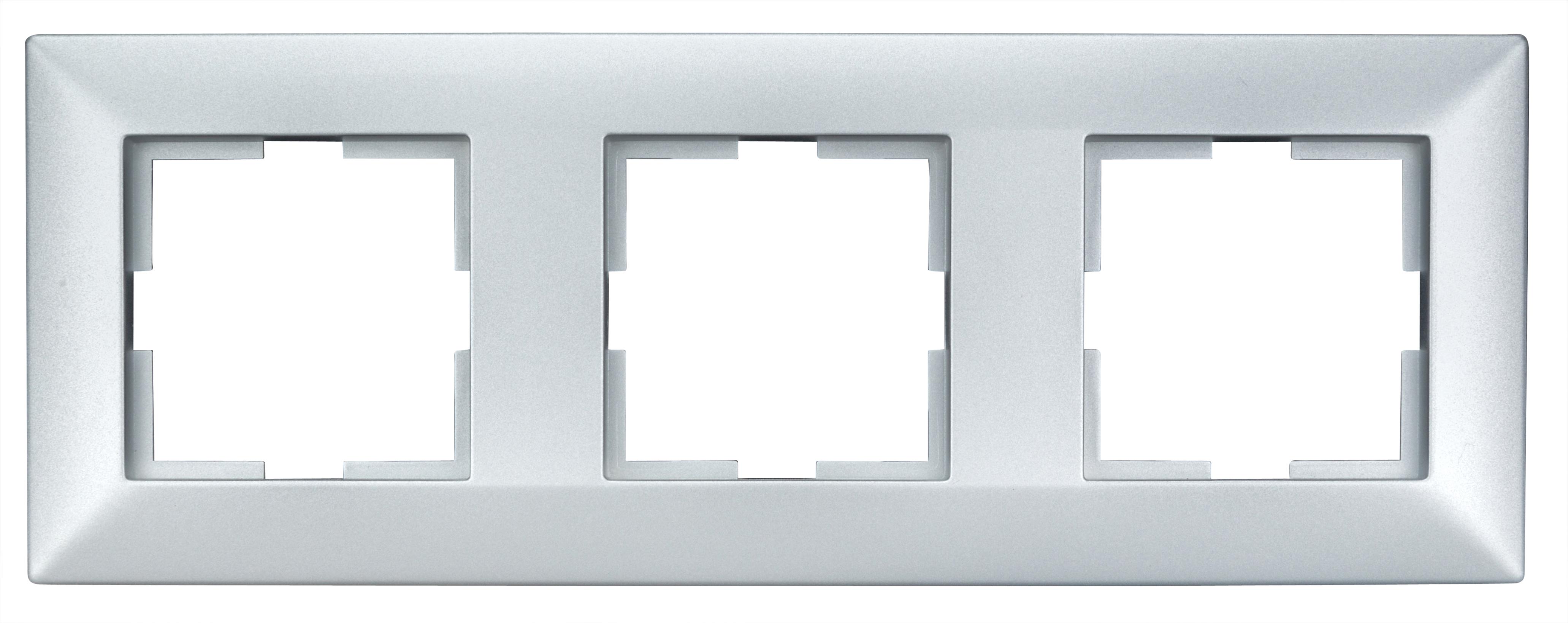 1 Stk Rahmen 3-fach, Silber EV125003--