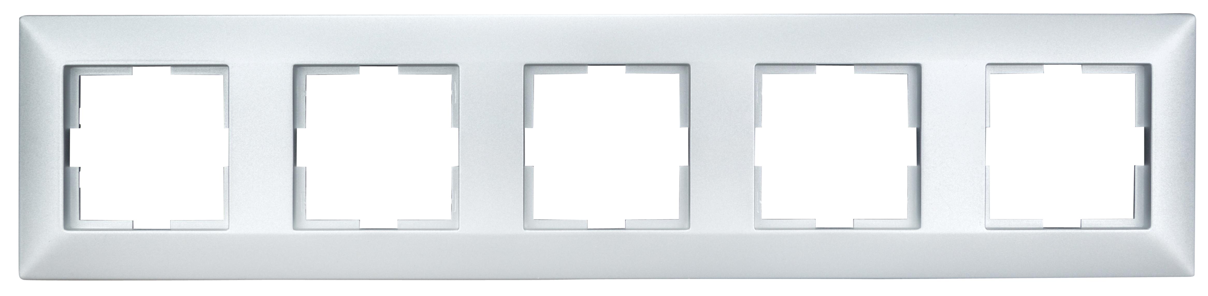 1 Stk Rahmen 5-fach, Silber EV125005--