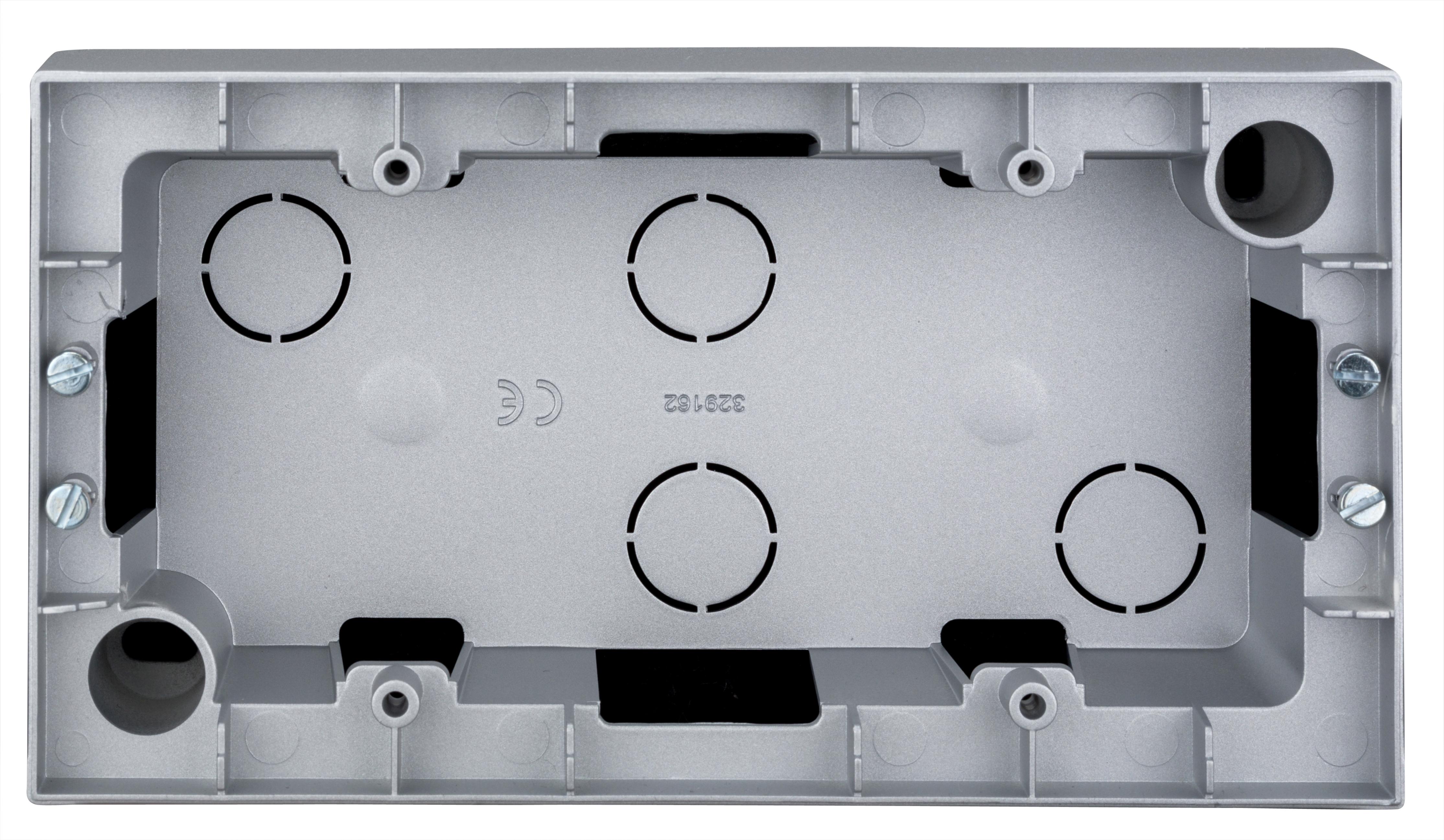 1 Stk AP-Gehäuse 2-fach, Silber EV125007--