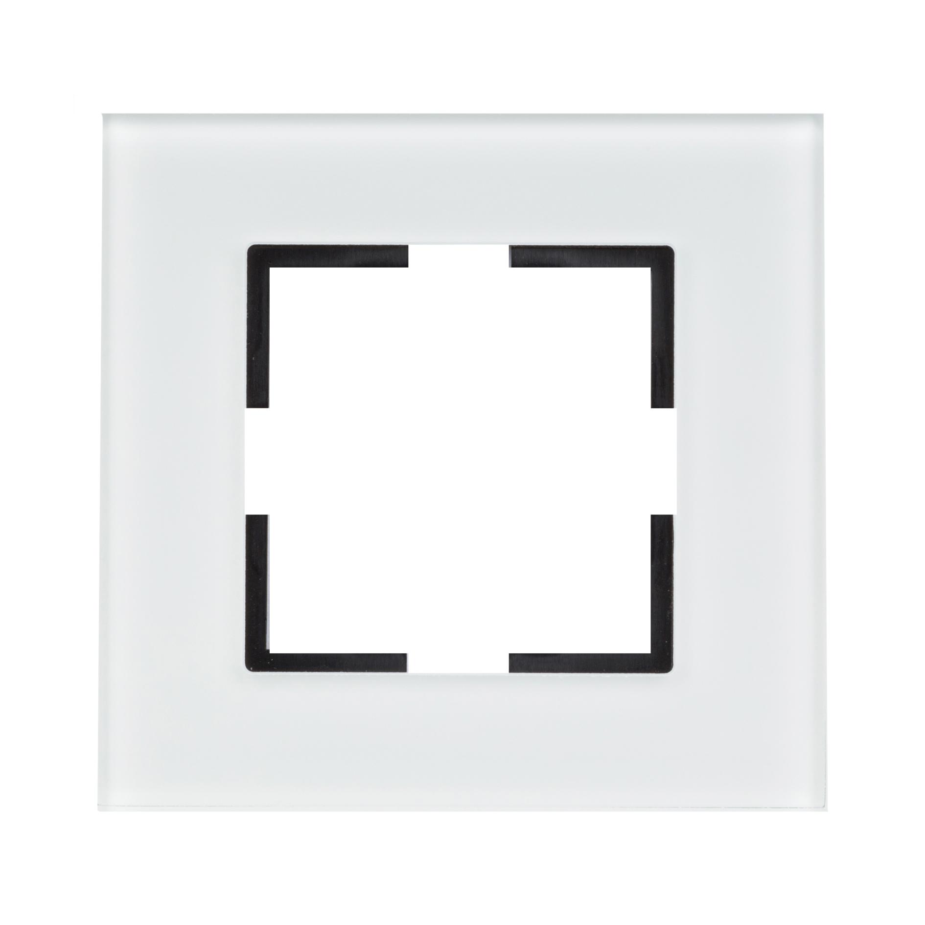 1 Stk Rahmen 1-fach, Glas weiß EV145001W-