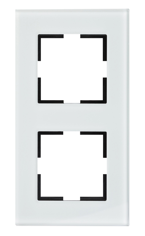 1 Stk Rahmen 2-fach, Glas weiß EV145002W-