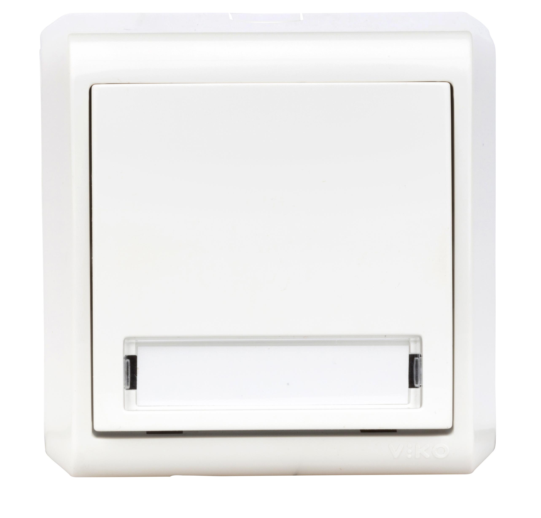 1 Stk AP-Taster, Orientierungslicht, Symbol Glocke, IP20, weiß EV310008--