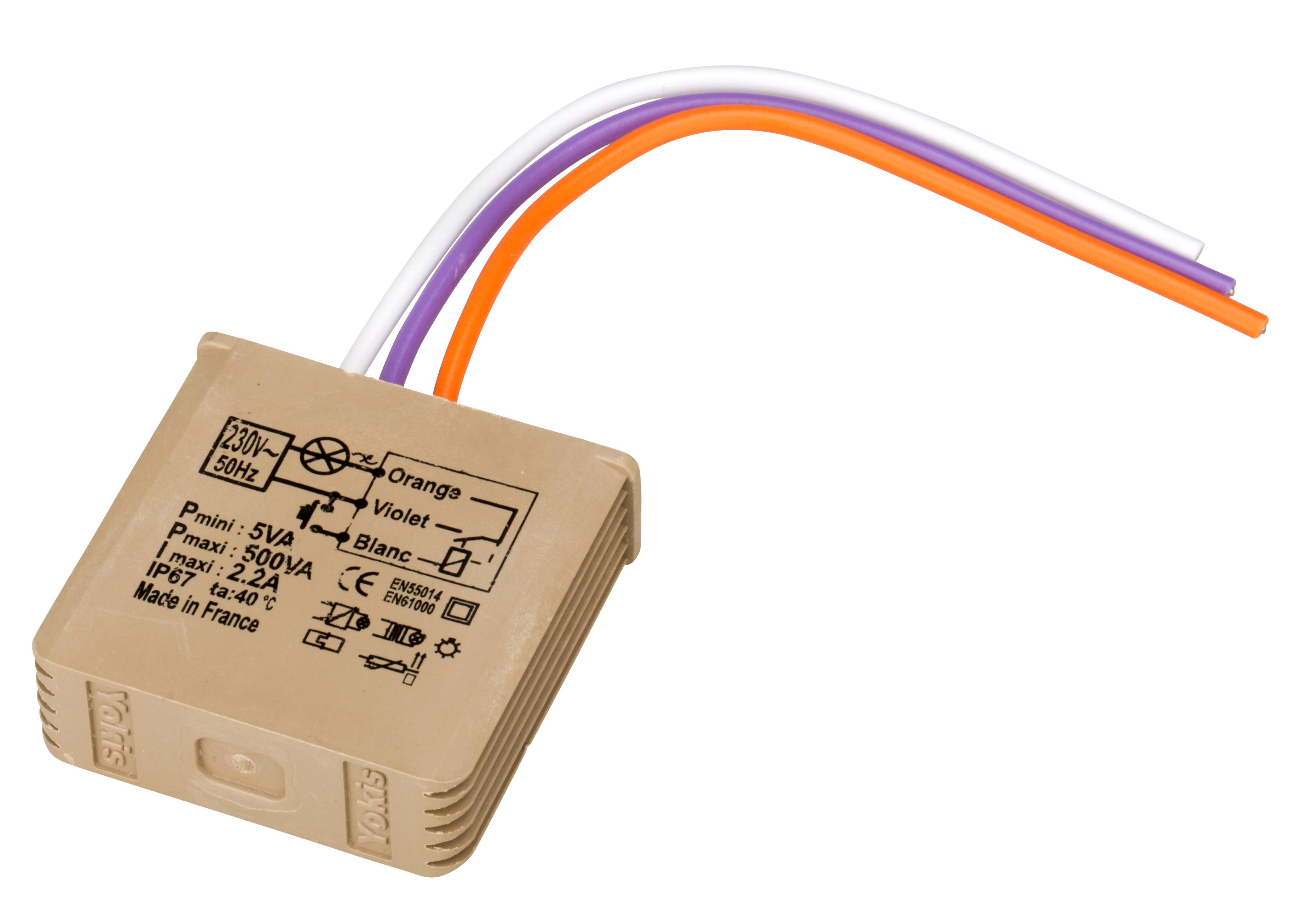 1 Stk Unterputz Dimmer für Tastersteuerung RLC 5-500VA EVMTV500E-
