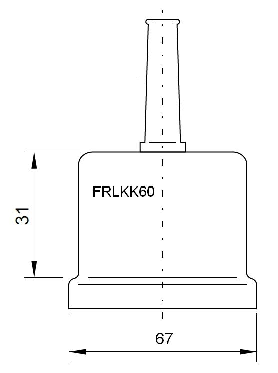 1 Stk Iso-Kappe für LKT mit Ø 60mm (lose) FRLKK60---