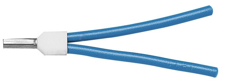 100 Stk Aderendhülse isoliert, Duo 2x1mm², L1=15mm GI55740006