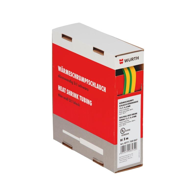 1 m Schrumpfschlauch Box 6,4/3,2mm, 1Box=5m, gelb/grün GI77176030