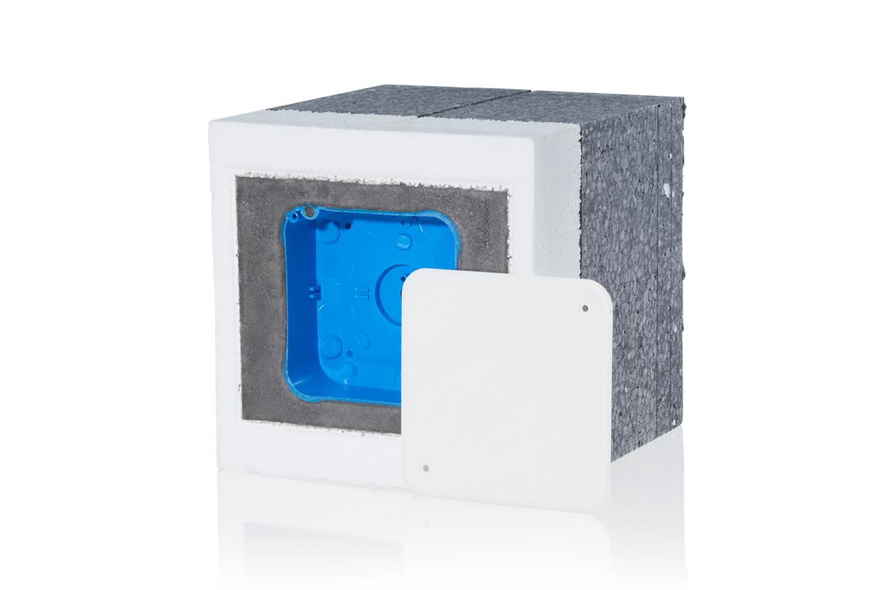 1 Stk TIE-Systeme mit 2-fach Gerätedose, t=47mm, 16-20cm Dämmung GTDEPS2018